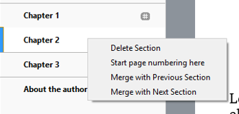 Merge chapter function in Kindle Create