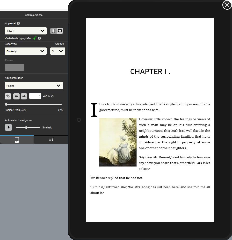 Preview van boek in Kindle Create