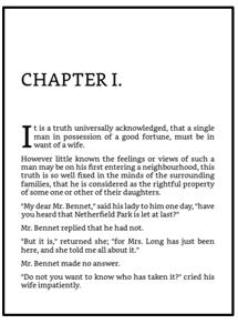 Página de bloco do capítulo com tema Clássico no Kindle Create