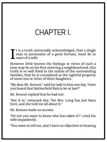 Página de bloco do capítulo com tema Cosmo no Kindle Create