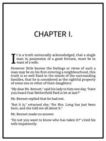 Página de bloco do capítulo com tema Moderno no Kindle Create