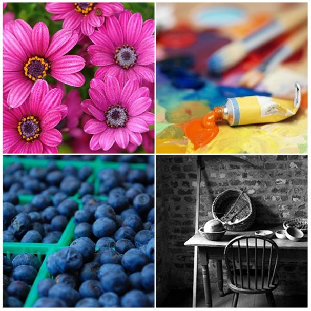 voorbeeld van afbeeldingen die zijn afgedrukt in premium-kleureninkt