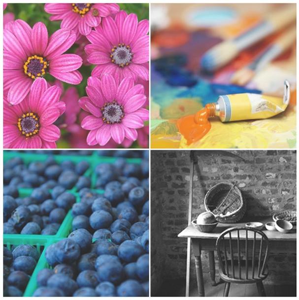 voorbeeld van afbeeldingen die zijn afgedrukt in standaard kleureninkt