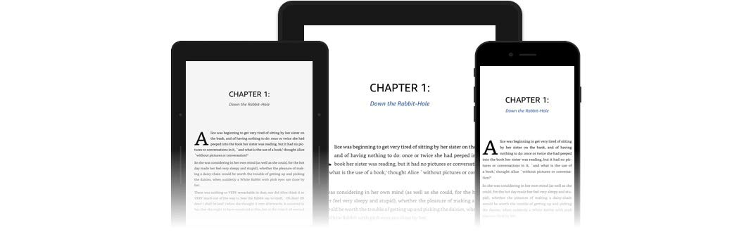 Preview Kindle Create books on devices