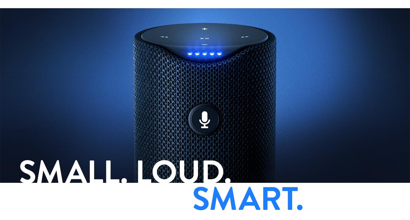Tap-Small. Loud. Smart.