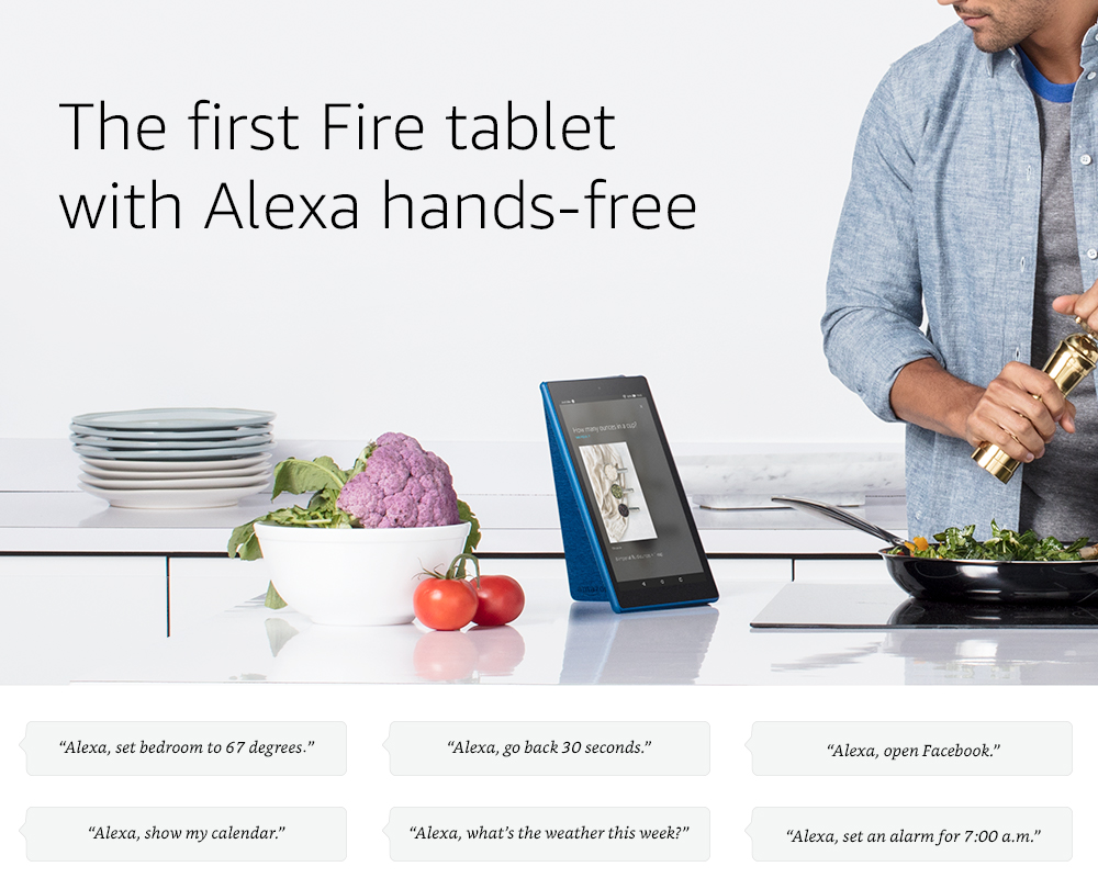 The first Fire tablet with Alexa hands-free
