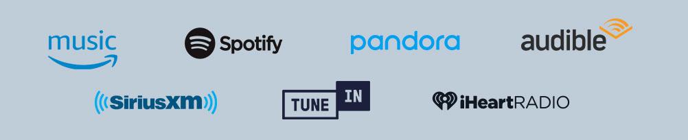 Amazon Music, Spotify, Pandora, and more