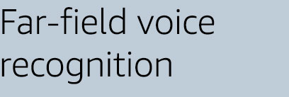 Far-field voice recognition