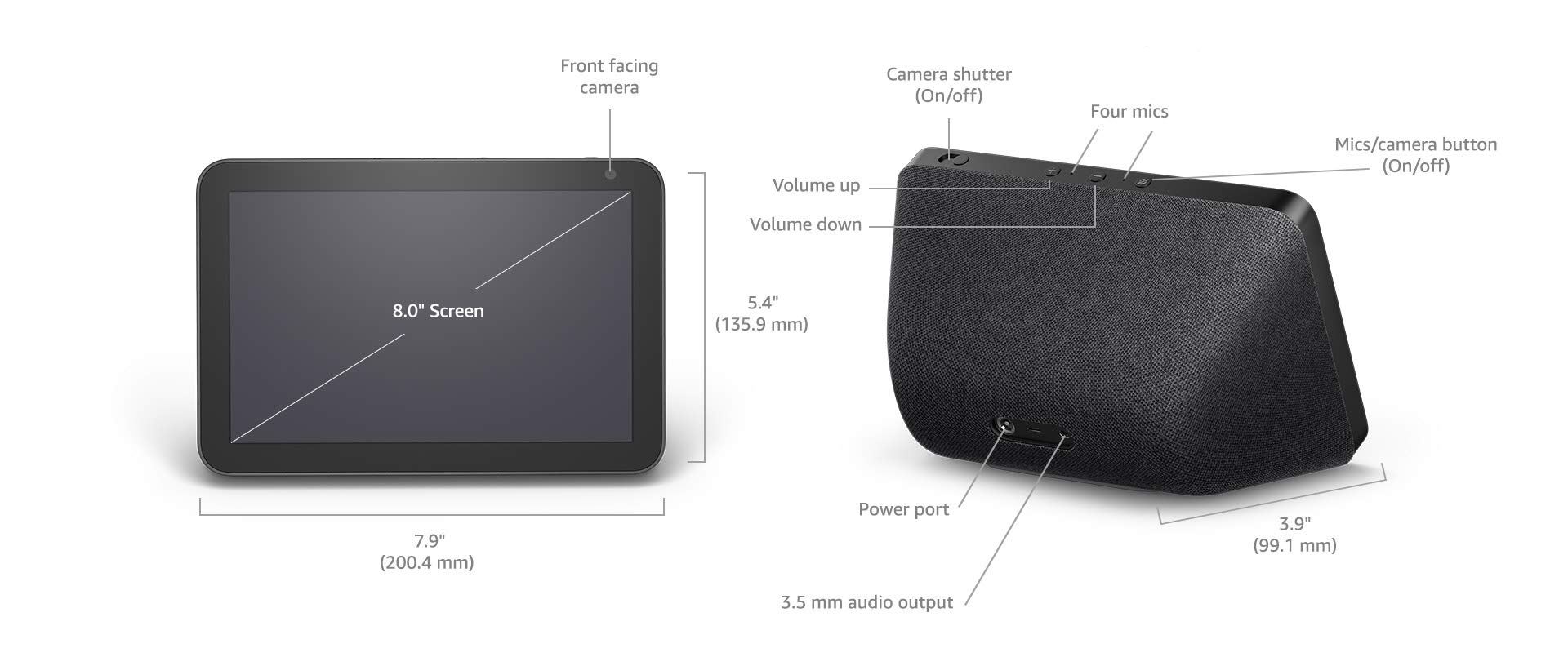 "Amazon.com: Echo Show 8 - HD 8"" smart display with Alexa ..."