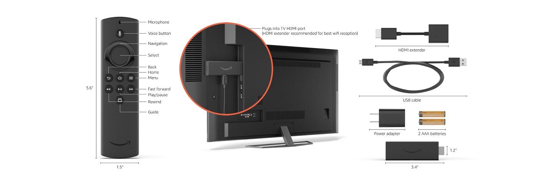 Технические характеристики Fire TV Stick Lite