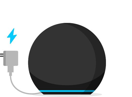 1. Conecta el Echo Dot.