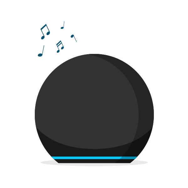 Ask Alexa for music, weather, news and more.