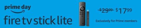 Fire TV Stick Lite. $17.99.