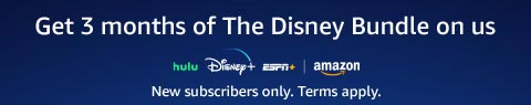 Get 3 months of The Disney Bundle on us. Click to learn more.
