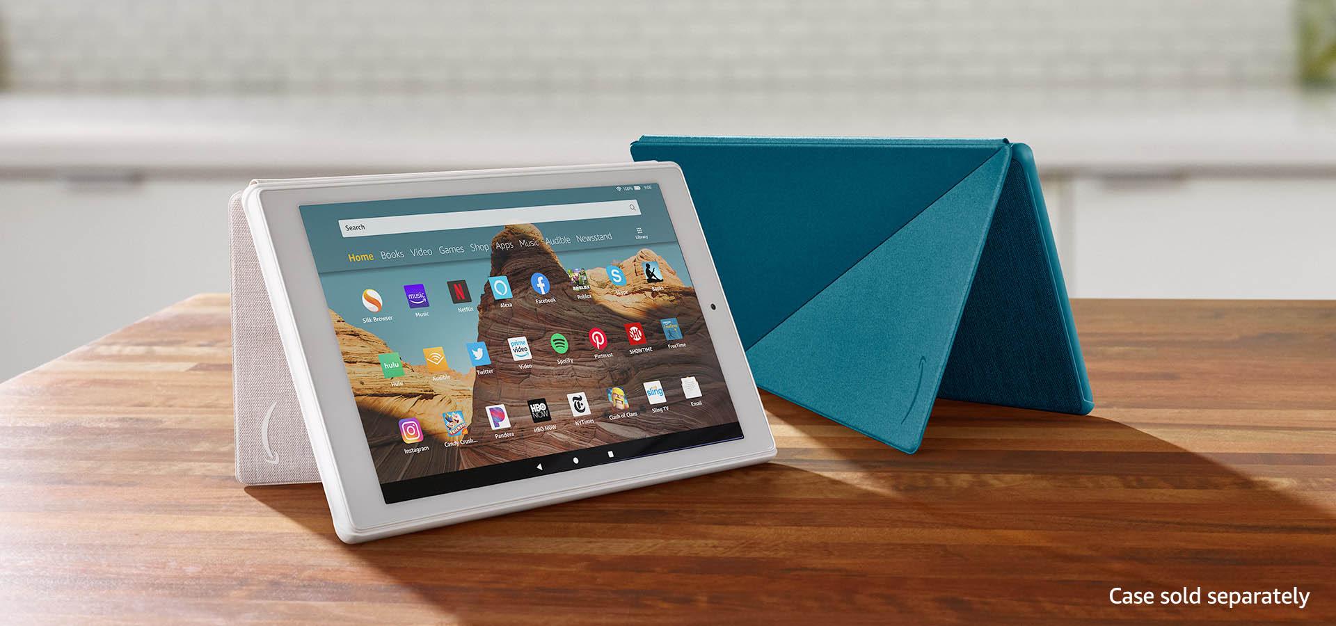 Amazon Com Fire Hd 10 Tablet 10 1 1080p Full Hd Display 32 Gb Black Kindle Store