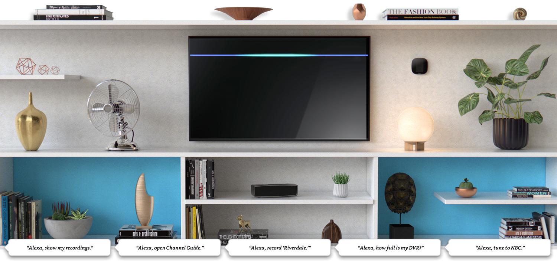 Home entertainment setup