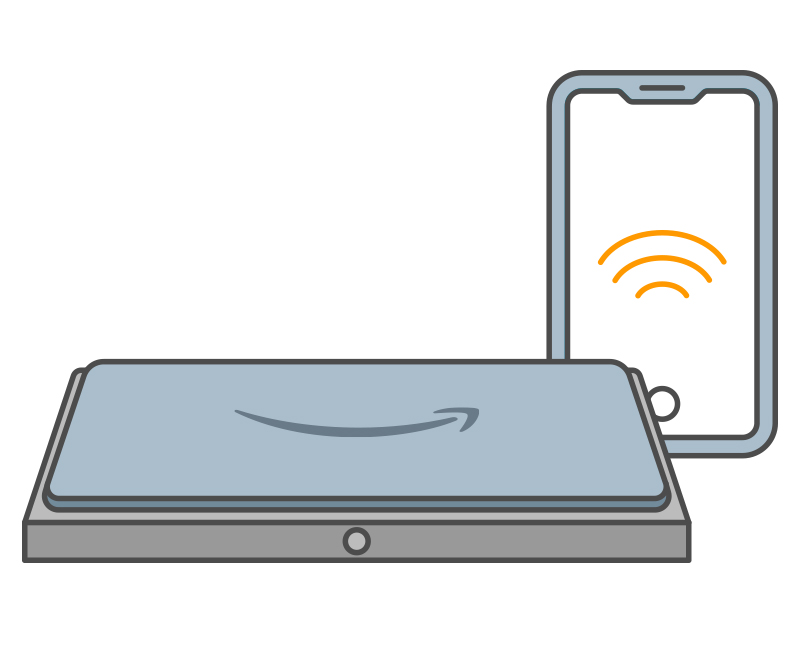 1. Power on the device and connect to wifi through the Amazon  Shopping app.