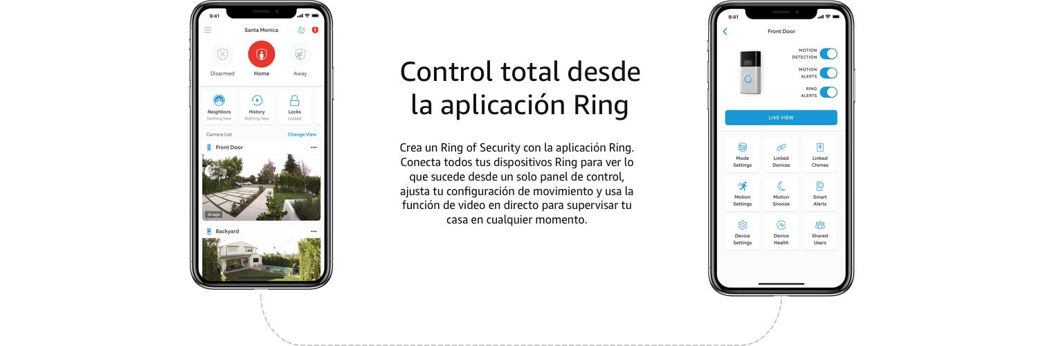 Control total desde la aplicación Ring