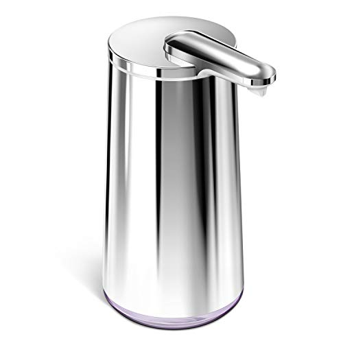 simplehuman 10 oz. Touch-Free Foam Sensor Pump with Lavender Soap and Refillable Cartridge, Polished Stainless Steel
