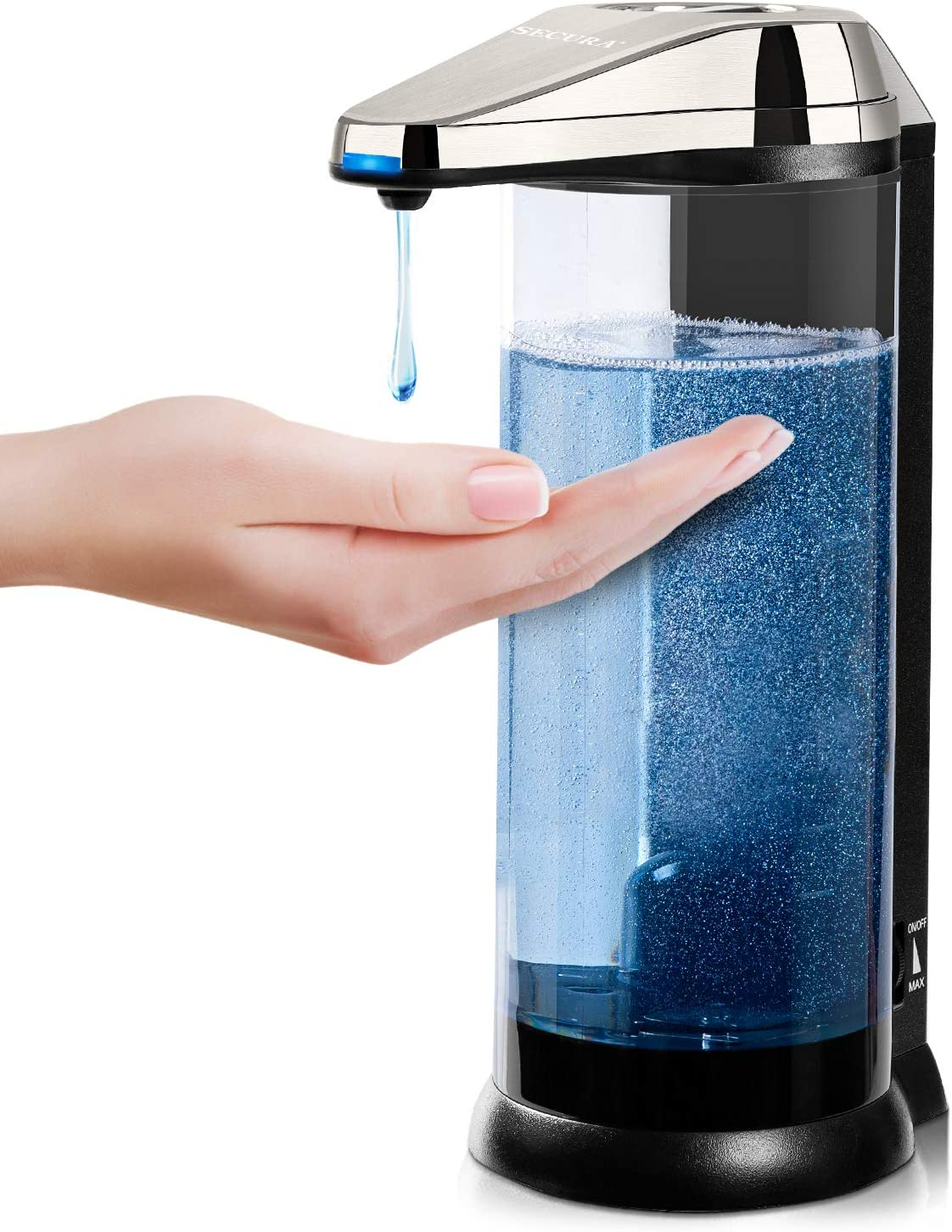 Secura 17oz  Premium Touchless Battery Operated Electric Automatic Soap Dispenser