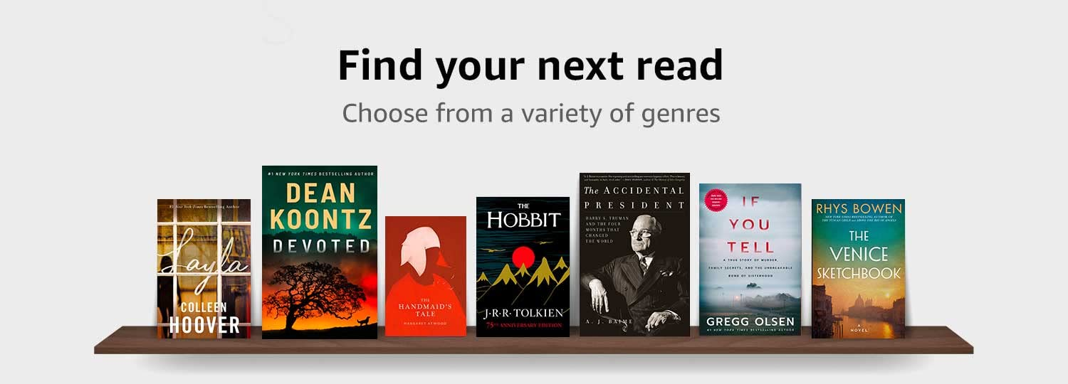 Find your next read. Choose from a variety of genres.