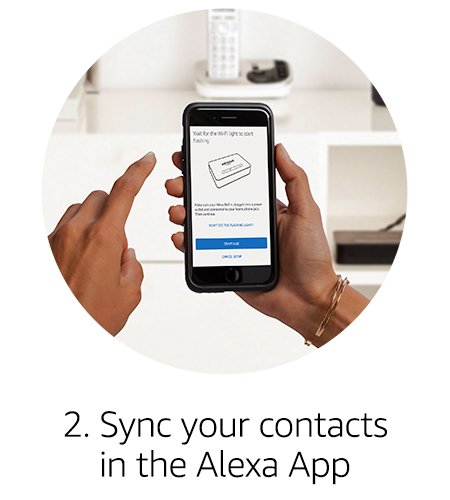 Sync your contacts in the Alexa App
