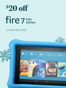 Save $20 on All-New Fire 7 Kids Edition Tablet. Limited-time offer.