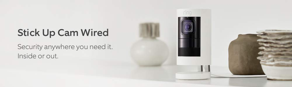 Stick Up Cam Wired. Security Anywhere you need it. Inside or out.