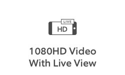 1080p HD video with live view