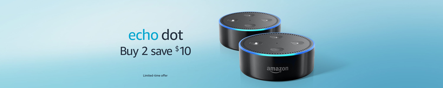 Echo Dot | Buy 2, save $10 | Limited-time offer