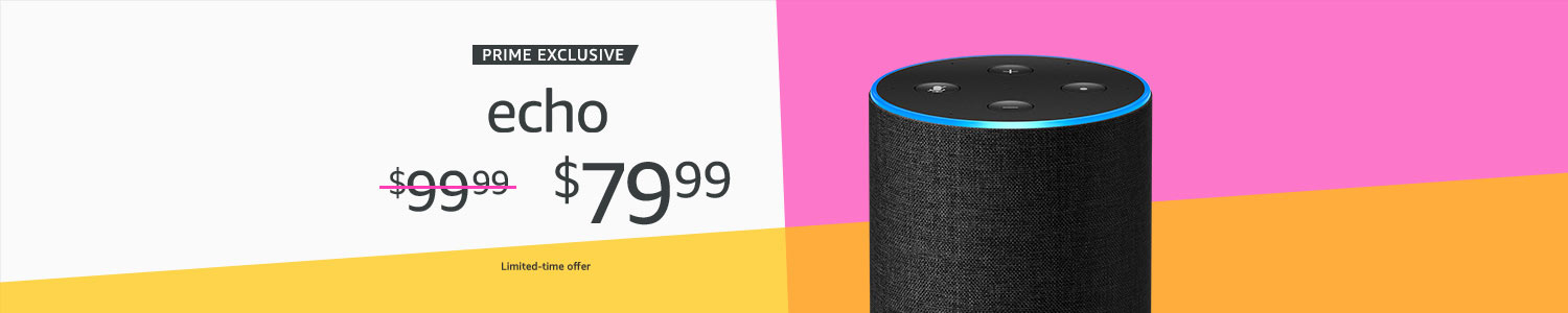 All-new Echo Prime Exclusive | Was $99.99, now $79.99 | Limited-time offer