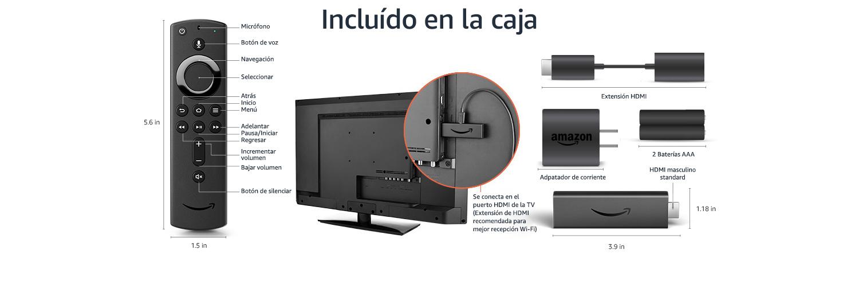 Detalles técnicos de Fire TV Stick 4K