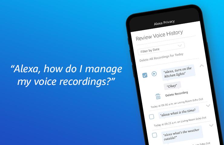 Manage voice recordings