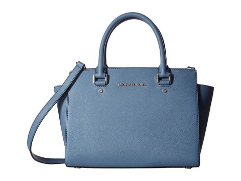 Image of a blue satchel