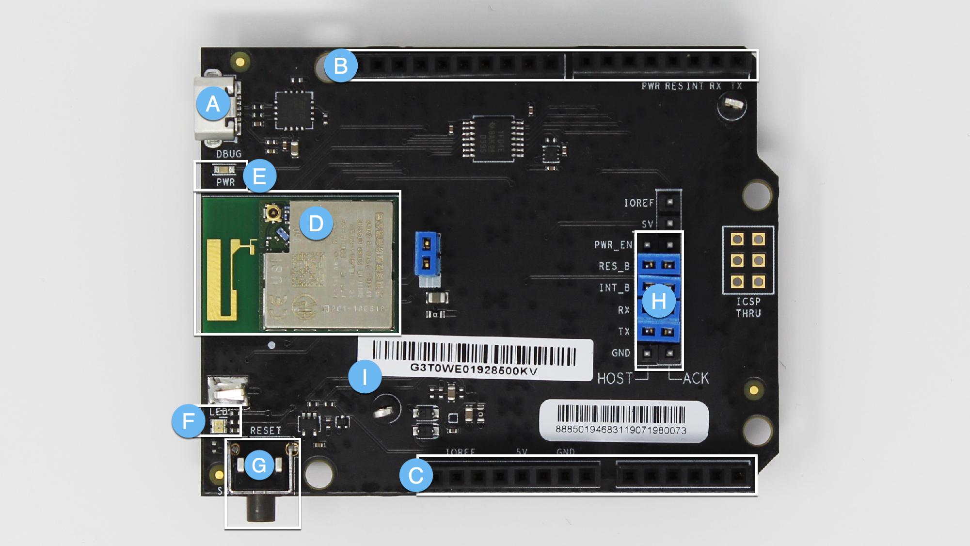 USI development board components