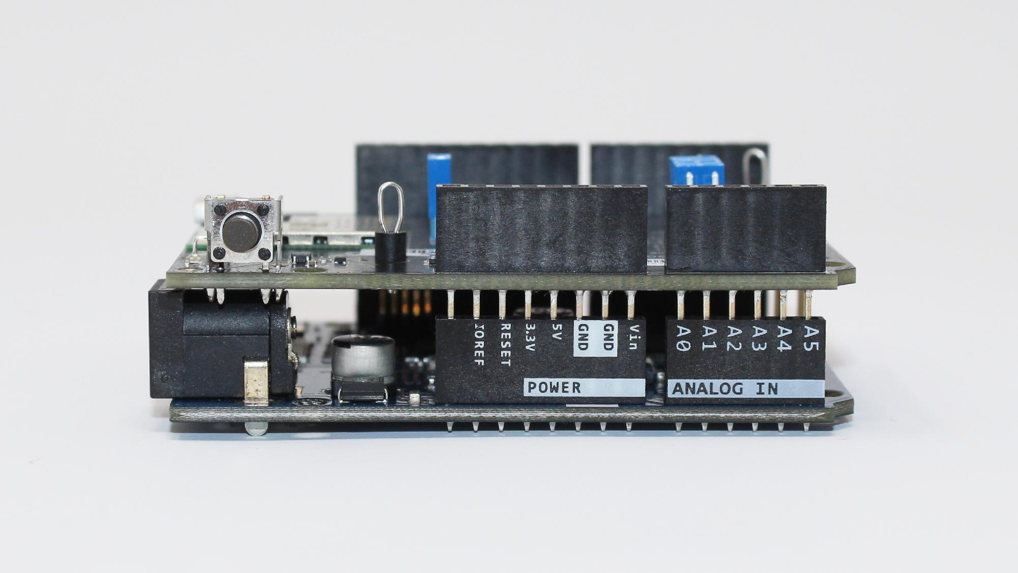 Connected development board and Arduino Zero