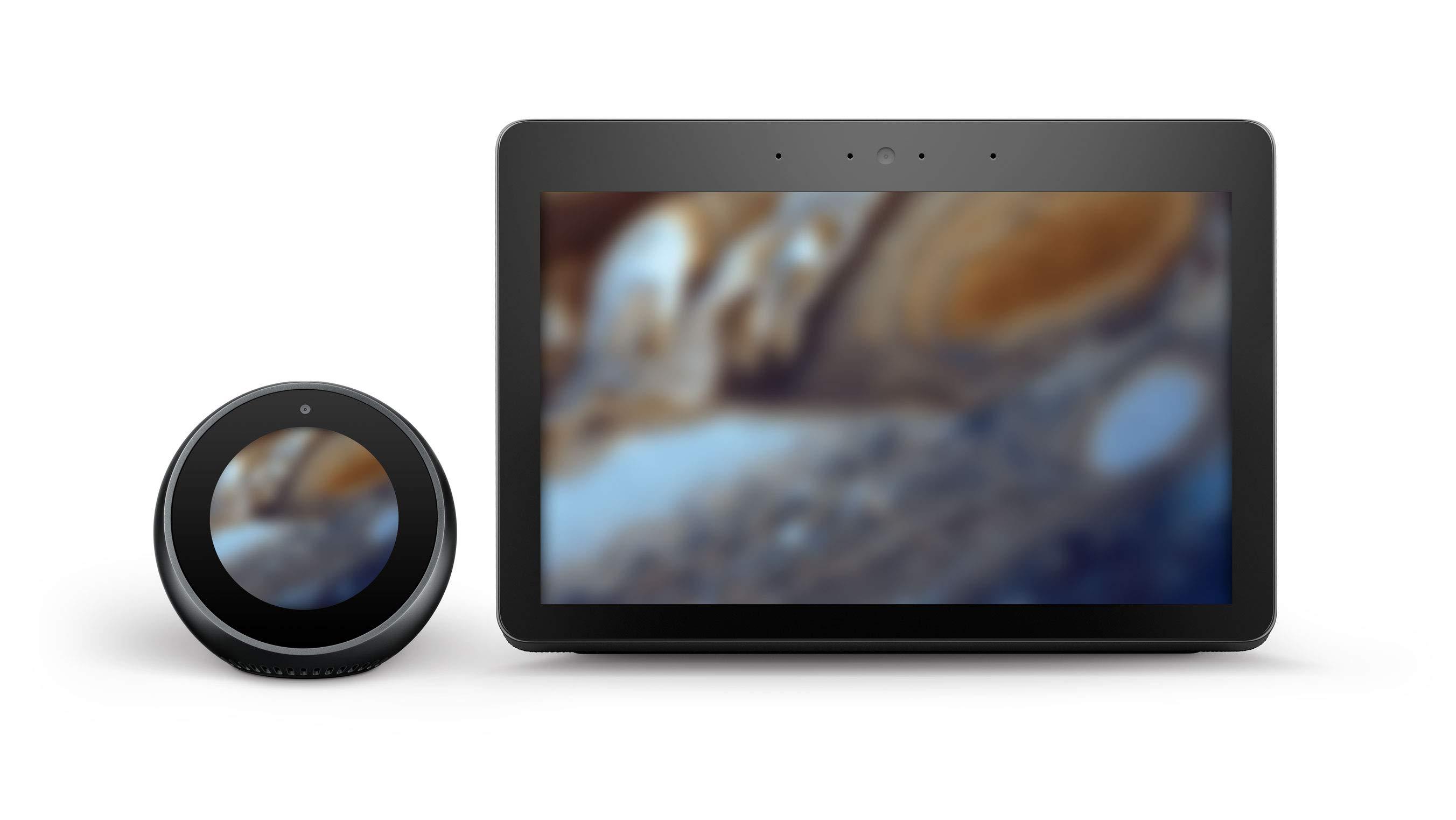 2台のハブデバイスでNASAの木星の画像にぼかしのオーバーレイを適用した例です。画面上にテキストなどのほかの要素はありません。