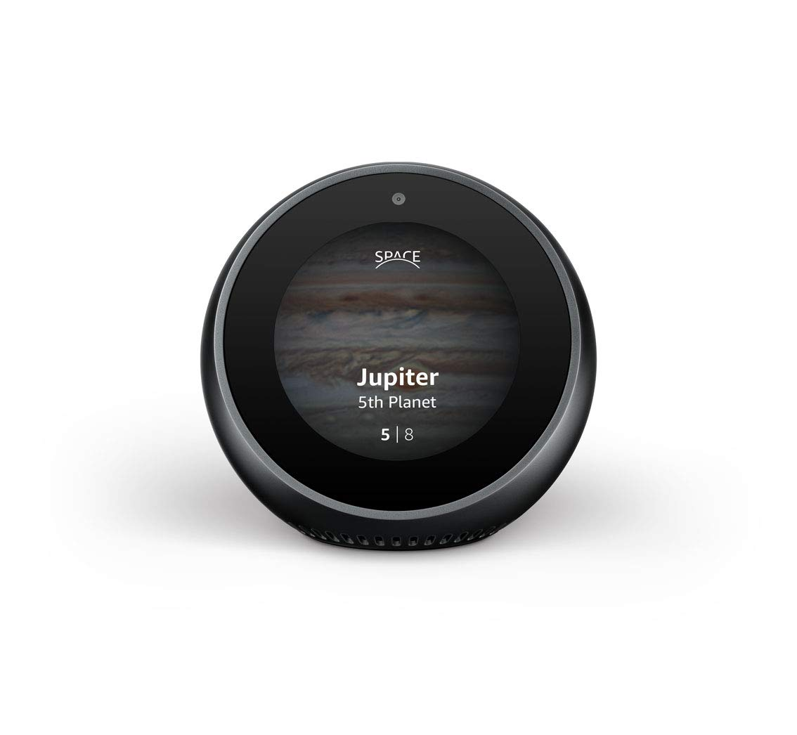 Example showing the use of a page counter at the bottom of the screen with an image background on a round hub device.