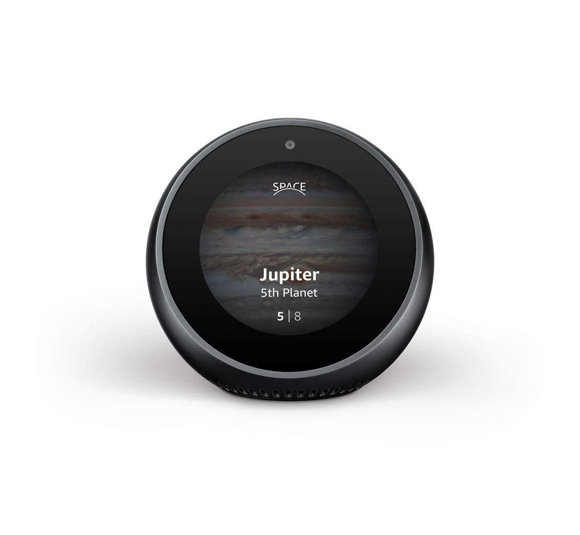 丸型のハブデバイスに背景画像と、画面下部にページカウンターを表示した例