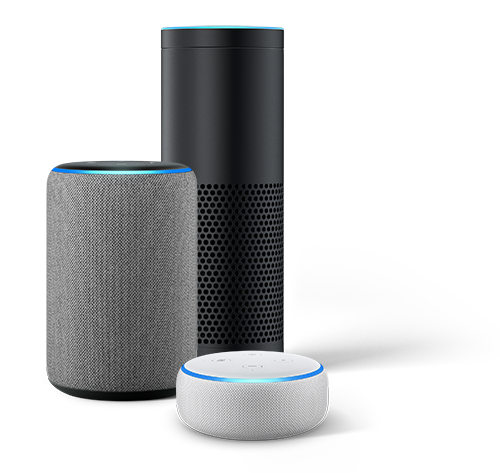 Image of Alexa-enabled speakers