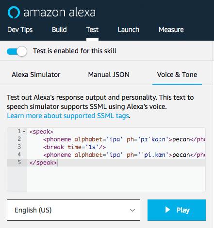 How to Use Phonemes to Change Alexa's Pronunciation : Alexa