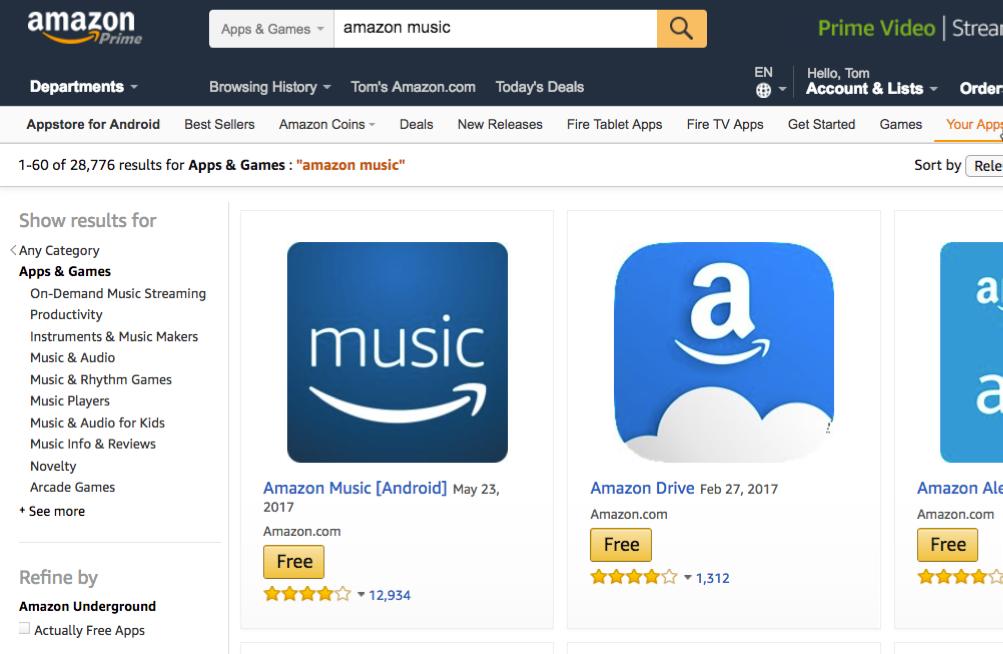 示例小图标(114像素x114像素)显示在亚马逊应用商店网站上