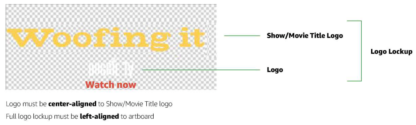 Positioning guidelines for Feature Rotator logo
