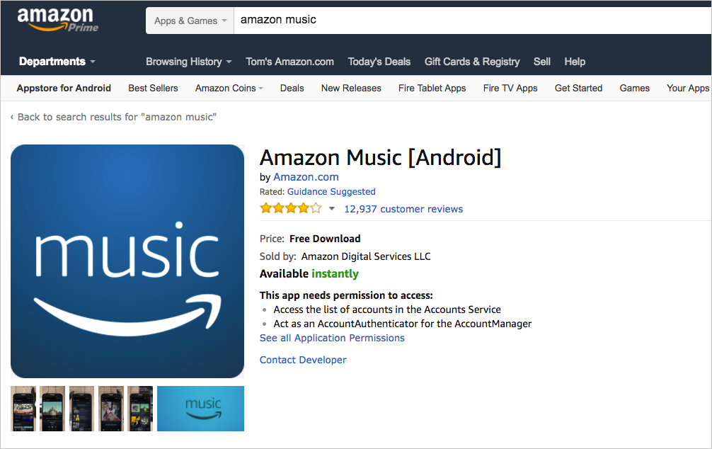 Sample large icon (512px x 512px) as it appears in in Amazon Appstore website