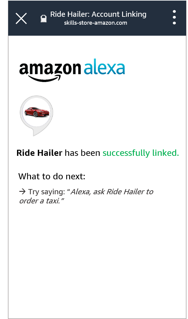 Alexa account linking.