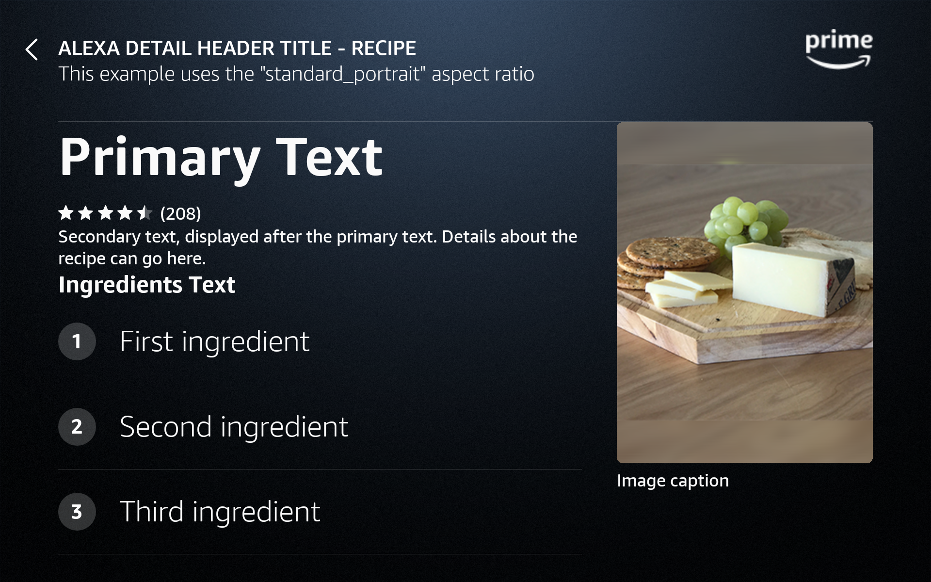 AlexaDetail: recipe variant