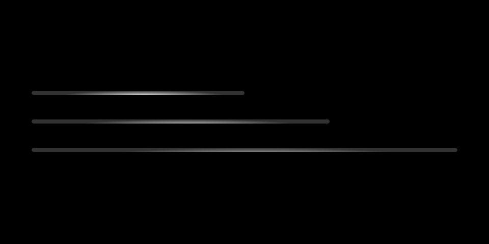 Indeterminate progress bars in different widths