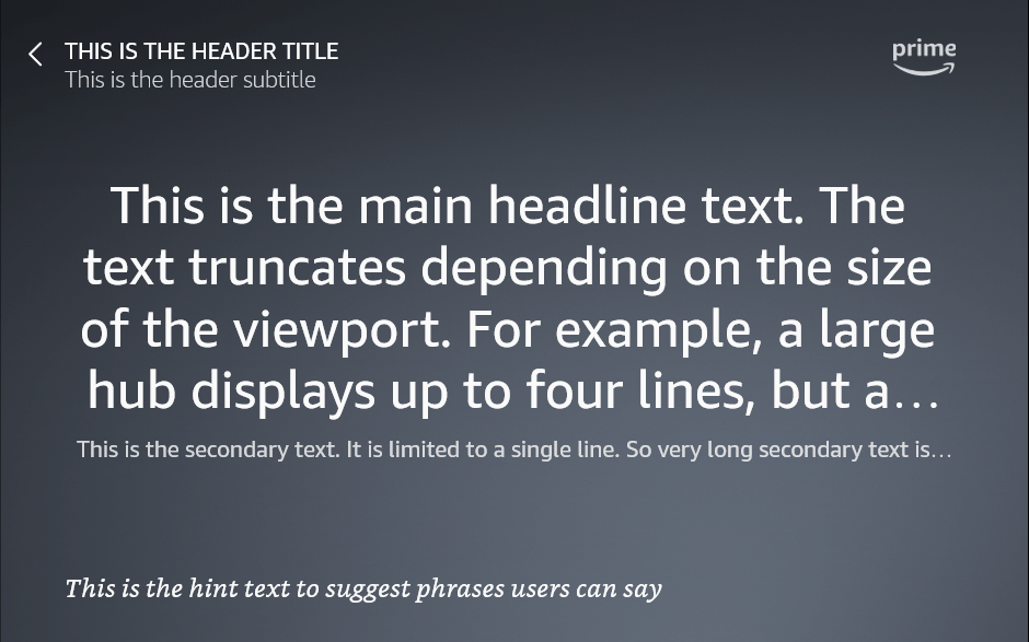 AlexaHeadline template when layoutDirection is 'LTR' and lang is 'en-US'