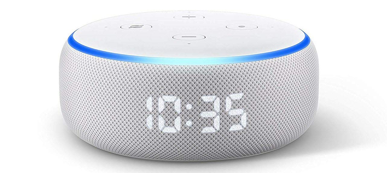 The Echo Dot with clock has a 4x1, 7-segment clock display