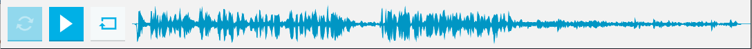 Audio time line displayed after you click Refresh